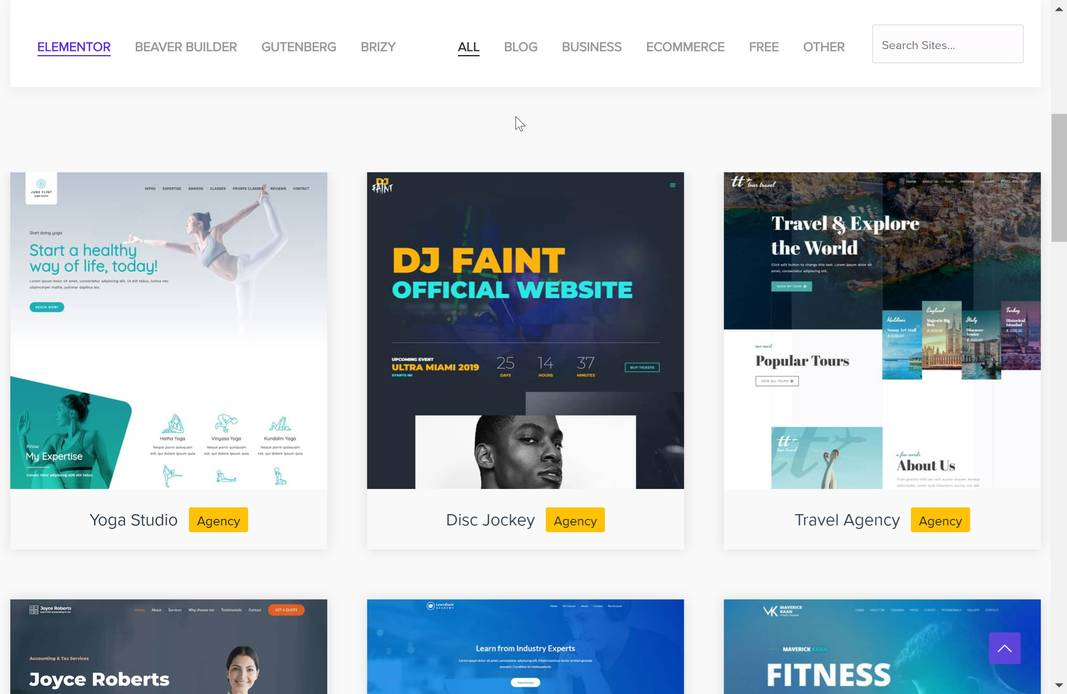 Besten WordPress Themes - Astra Demo Pages